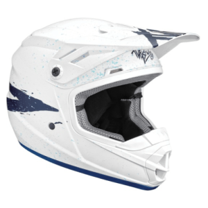 THOR YOUTH M SECTOR WHITE BLUE HELMET