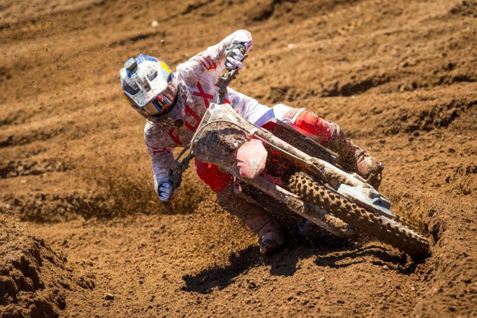 Ken Roczen emerged with the first moto victory and finished second overall (1-3).