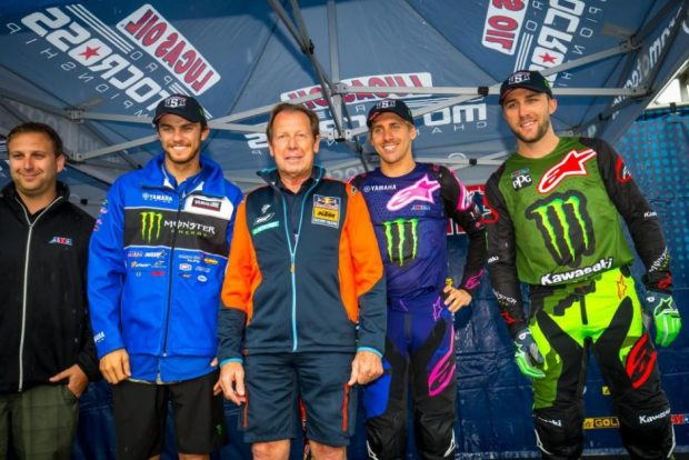 Aaron Plessinger, Justin Barcia, and Eli Tomac will represent the United States at the 2018 Motocross of Nations at RedBud Motocross Park.