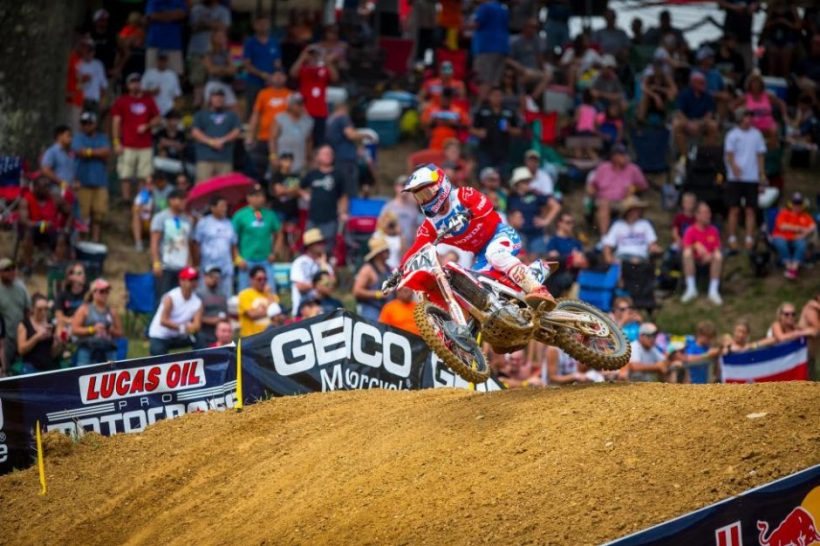 Roczen led laps in both motos and grabbed the first moto victory for second overall (1-3).