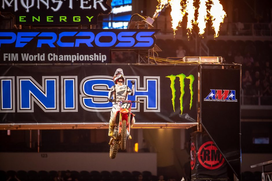 Hunter Lawrence had the 250SX Class covered and a made his career-first