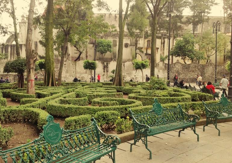 Resultado de imagen para jardin centenario coyoacan