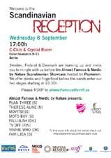 Invitation til nordisk reception (klik for større udgave)