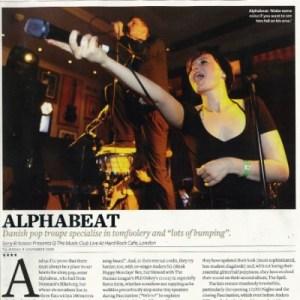 Alphabeat har fået en hel sides anmeldelse og interview i Q Magazine.