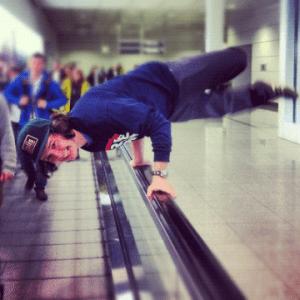 Lukas Graham kommer flyvende fra start i Tyskland. Foto: Mark Falgren