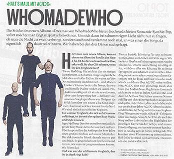I Tysklands største musikmagasin, Intro.