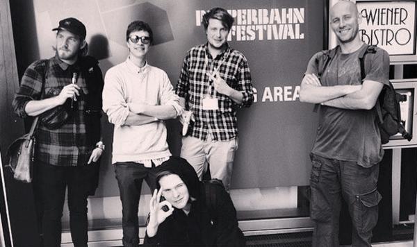 Sekuoia-holdet - inklusive Martin og Rasmus - ved Reeperbahn Festivalen. Endnu en succesfuld showvase-optræden i 2014
