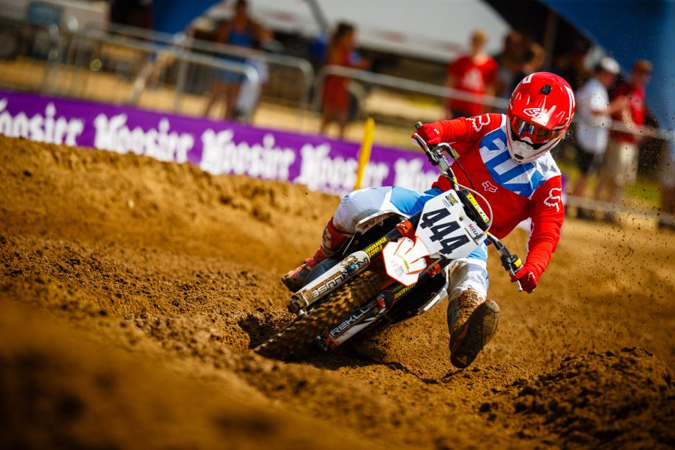 KTM's Justin Cokinos won the highly competitive 125 All Stars race on Saturday.
