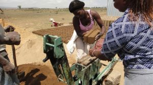 5. Removing finished brick