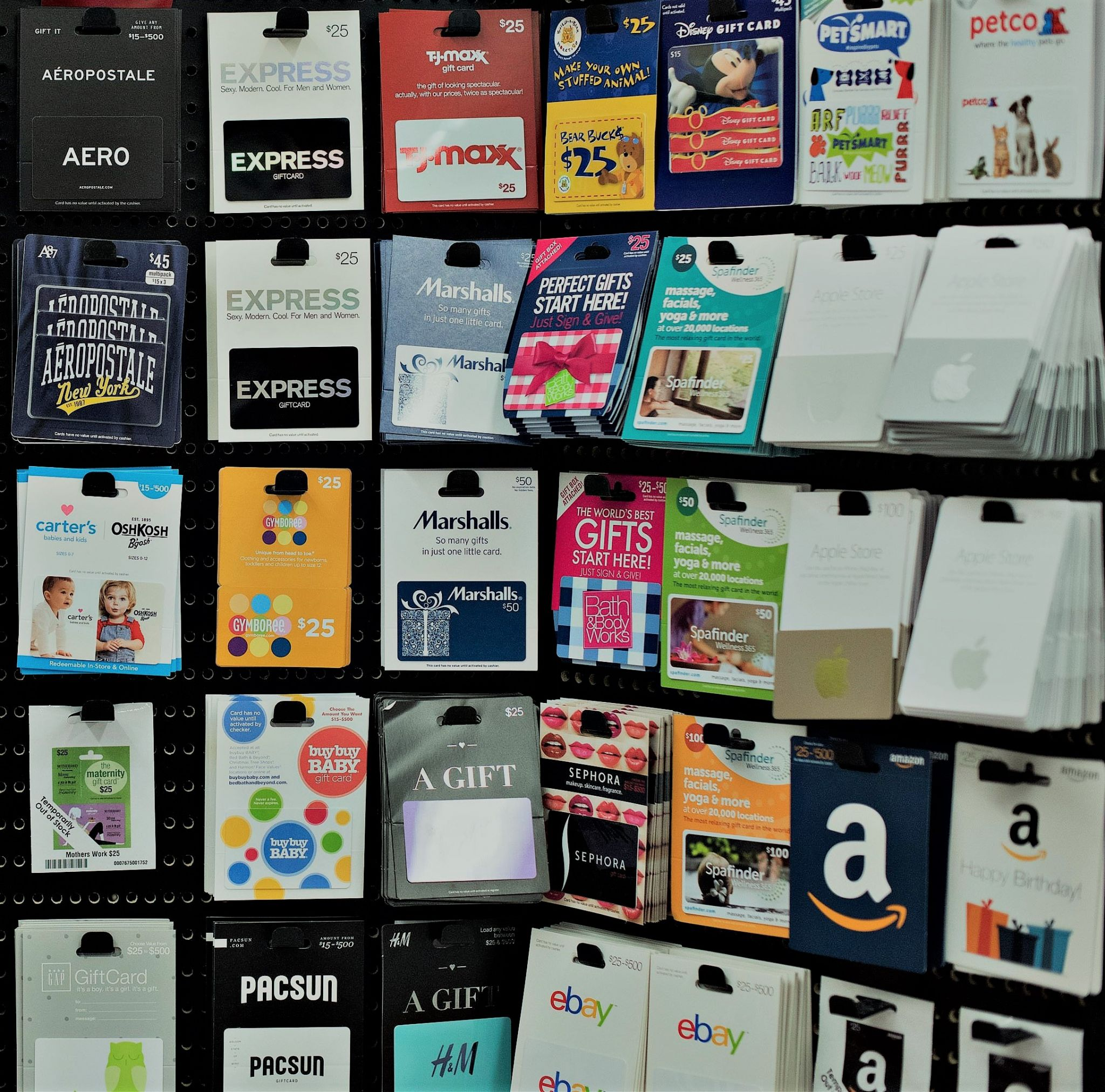 What about gift cards for Christmas?