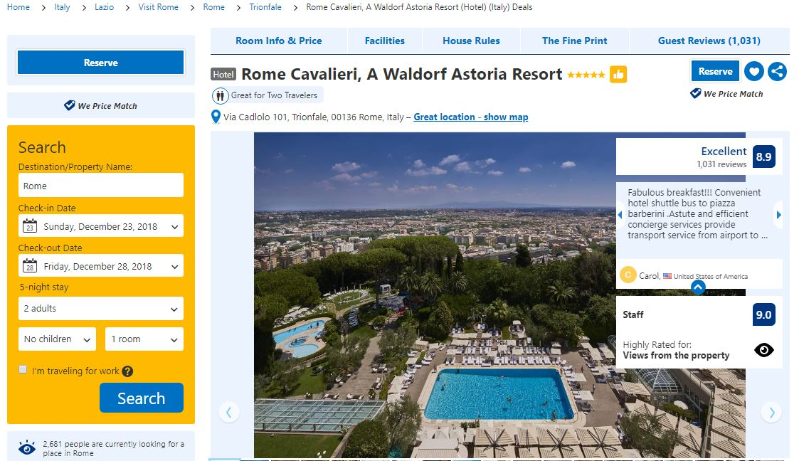 booking, Booking.com: how to book an accomodation