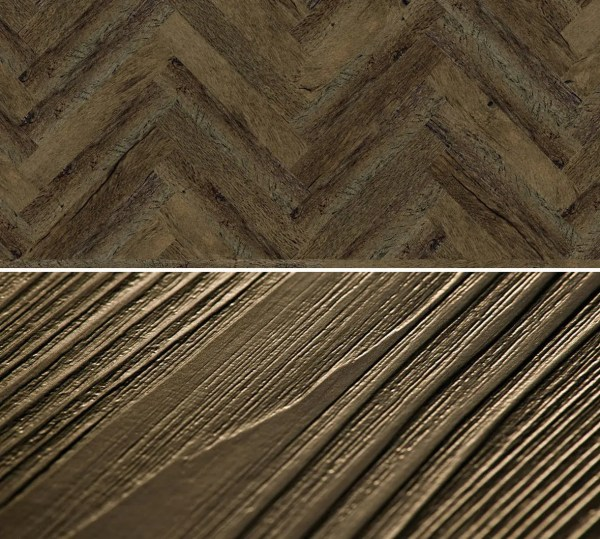 Vinylboden zum kleben im Fischgrät Design Project Floors Fischgrät PW3011HB