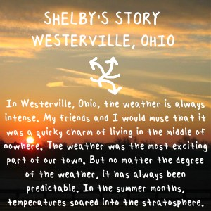 Shelby's story about hotter weather in Ohio