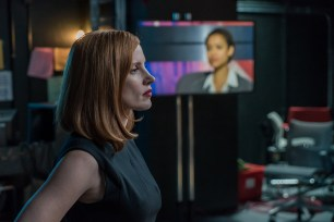 """M90 Jessica Chastain stars in EuropaCorp's """"Miss. Sloane"""". Photo Credit: Kerry Hayes ?2016 EuropaCorp ?France 2 Cinema"""