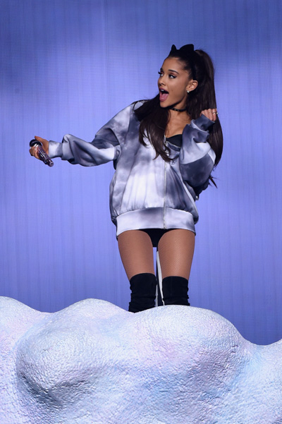 NEW YORK, NY - MARCH 20: Ariana Grande performs onstage at Madison Square Garden on March 20, 2015 in New York City. (Photo by Larry Busacca/Getty Images)