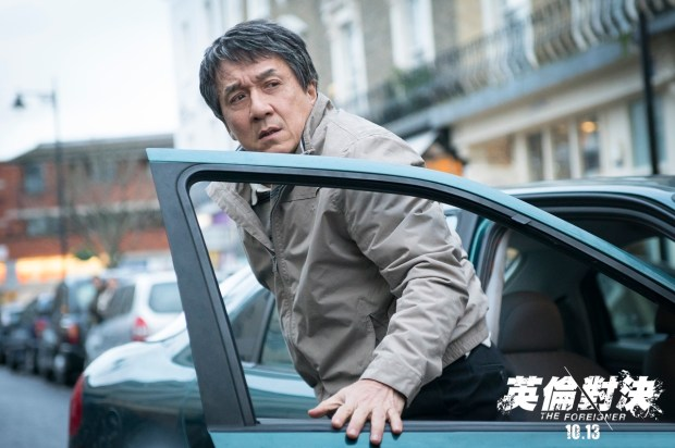 Jackie Chan dashing out of the car.JPG
