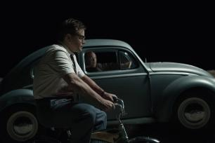 Left to right: Matt Damon as Gardner and Glenn Fleshler as Sloan in SUBURBICON, from Paramount Pictures and Black Bear Pictures.