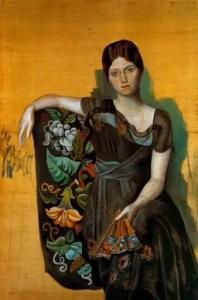 [Clio Team]  1917  Picasso  Portrait d'Olga dans un fauteuil, Portrait of Olga in an armchair  Huile sur Toile  130,88,8 cm
