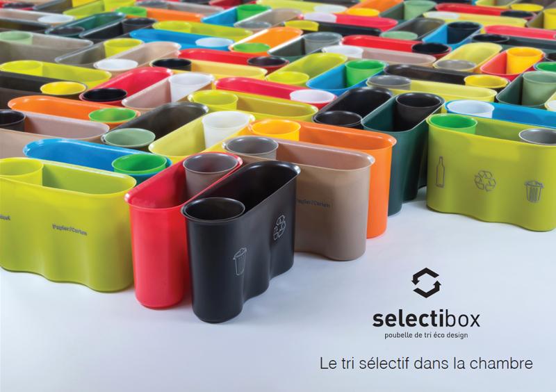 Selectibox, une corbeille de tri des déchets design et communicante
