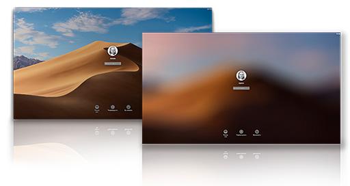 mac OS Mojave — фон экрана блокировки
