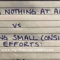 Doing nothing at all vs making small efforts