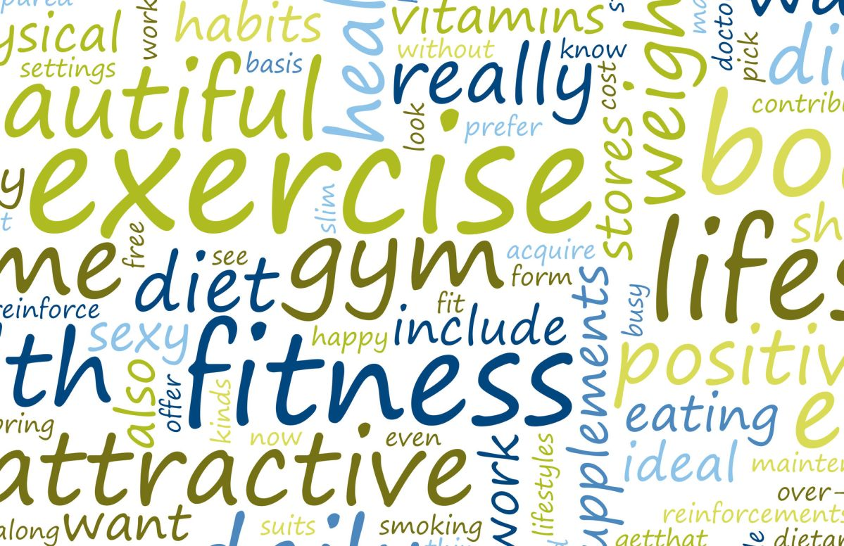 Health And Fitness List As Abstract Background Health And Fitness
