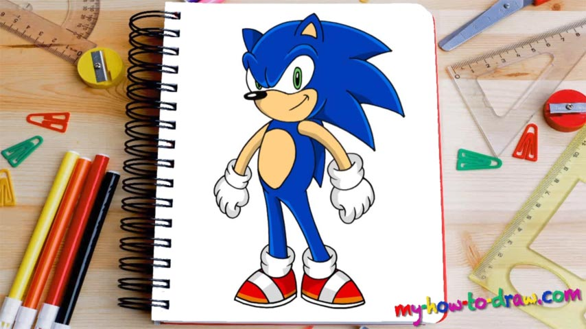 How To Draw Sonic The Hedgehog My How To Draw