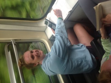 Studying on the train