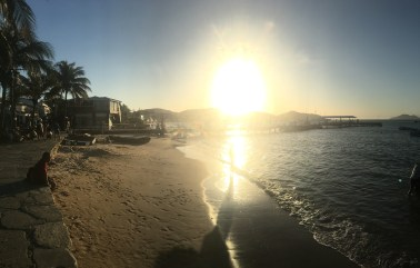 Buzios town at sunset