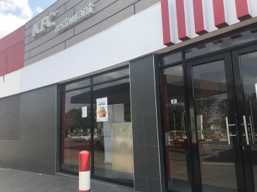 Brand new KFC abandoned - KFC left country the day before we came.