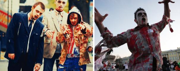 Mandlige dragt zombier