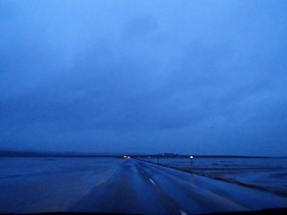 The road from Lindisfarne to mainland