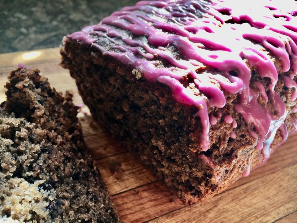 homemade gluten-free blueberry bread