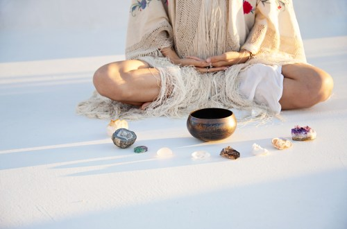 how yoga and crystals work together