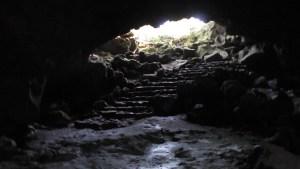駒門風穴 中からの風景