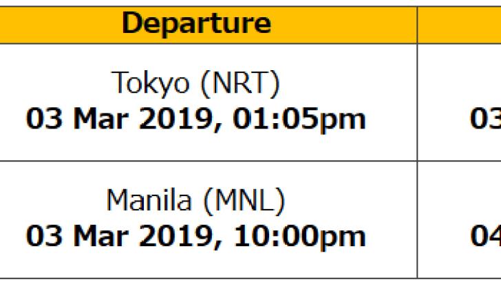 成田→マニラ→シンガポール