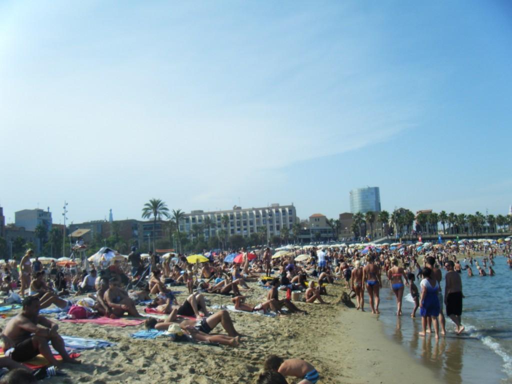 plage Barcelone en aout