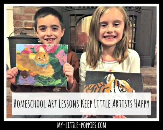 Homeschool Art Lessons Keep Little Artists Happy   My ...