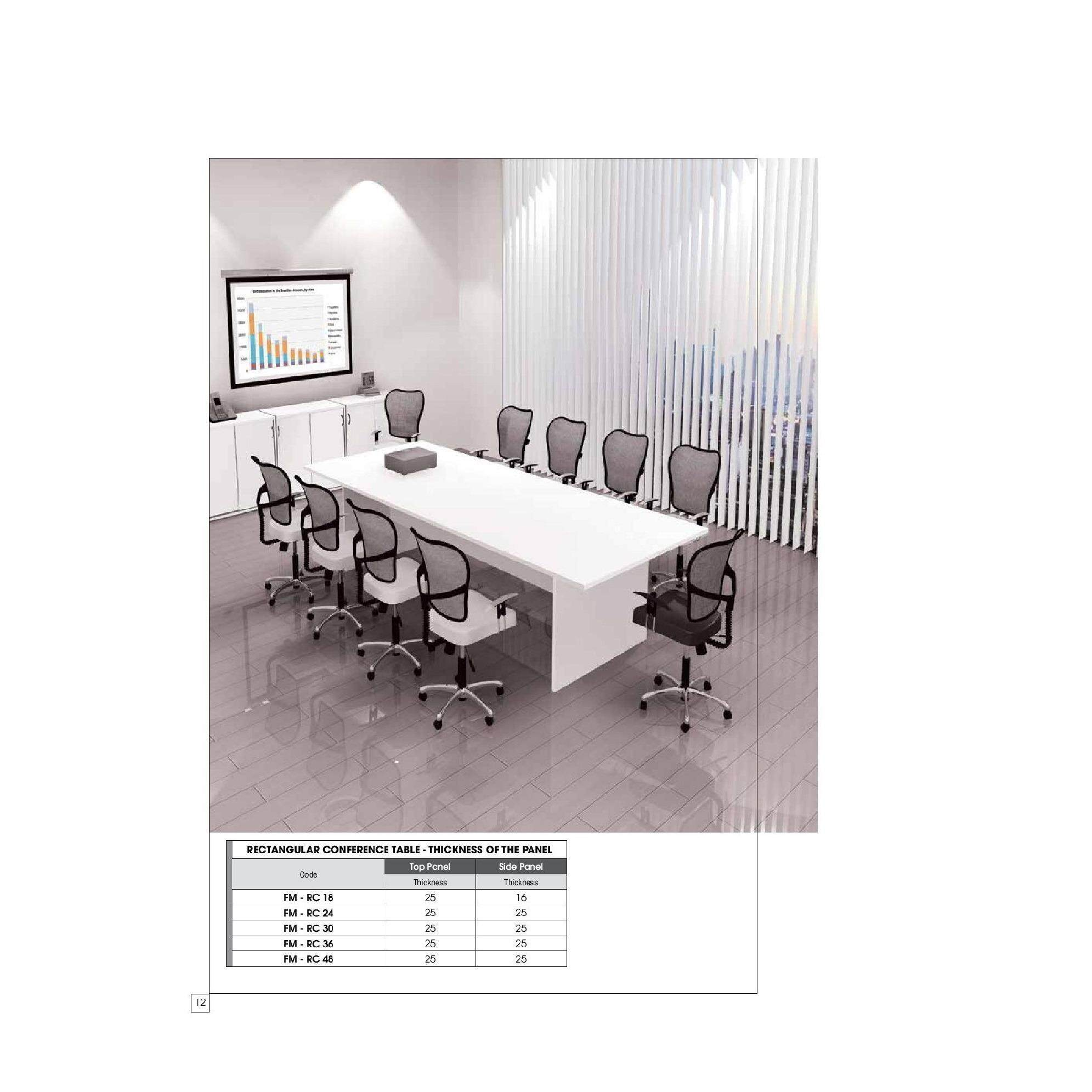 Free Delivery Klang Valley Meeting Conference Table 10 X 4 Ft For 10 Person Lazada