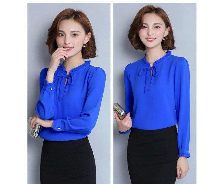 INWPLLR New Fashion Women Blouses Shirt Casual Korean
