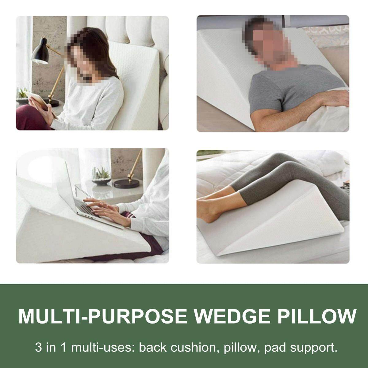 memory foam orthopedic acid reflux bed wedge pillow back leg elevation cushion 50 25 15cm