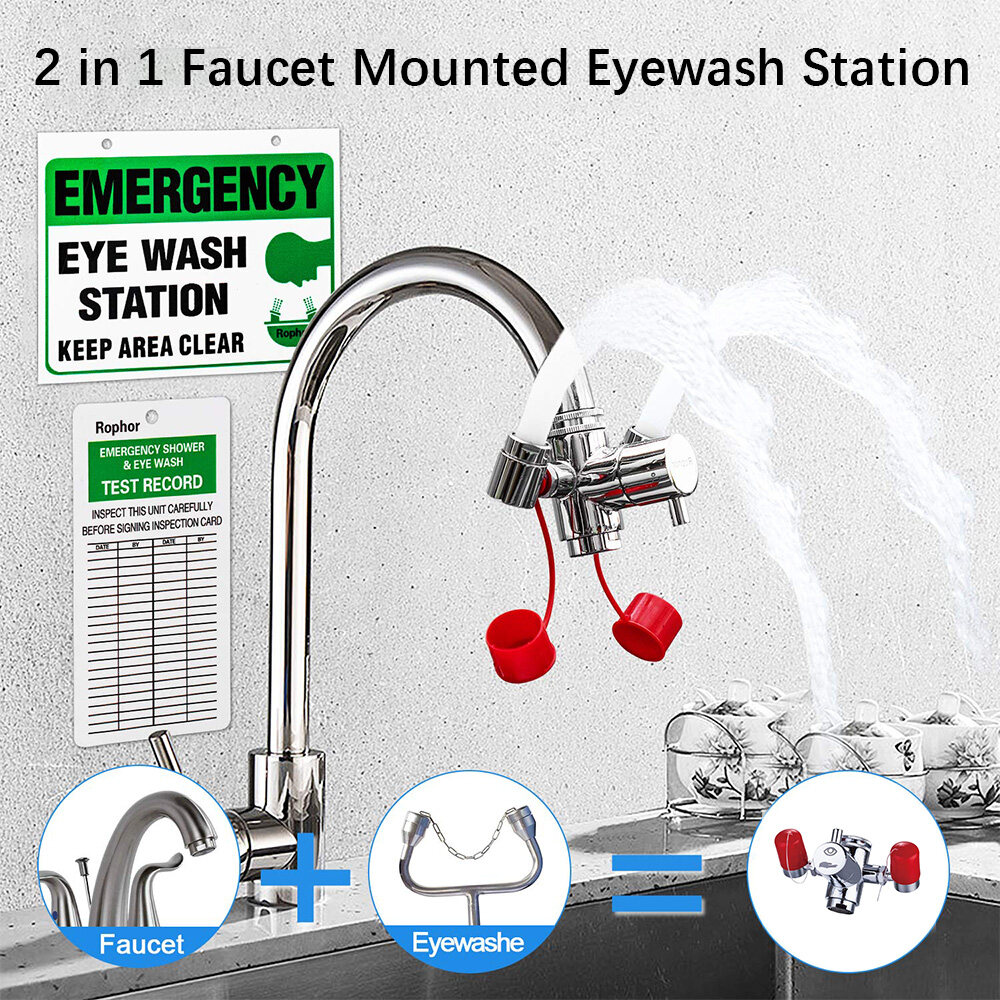 faucet mounted eyewash station reliable first aid emergency eye wash unit for sink attachment sink mount eye flush shower for eyes and skin