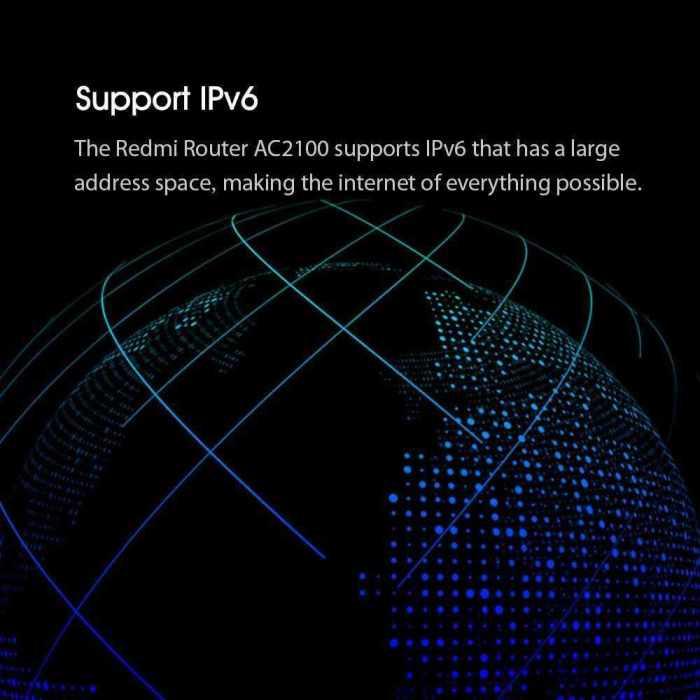 Xiaomi Redmi AC2100 WiFi Router 6 Antennas Dual Band Gigabit IPv6 Supported 7