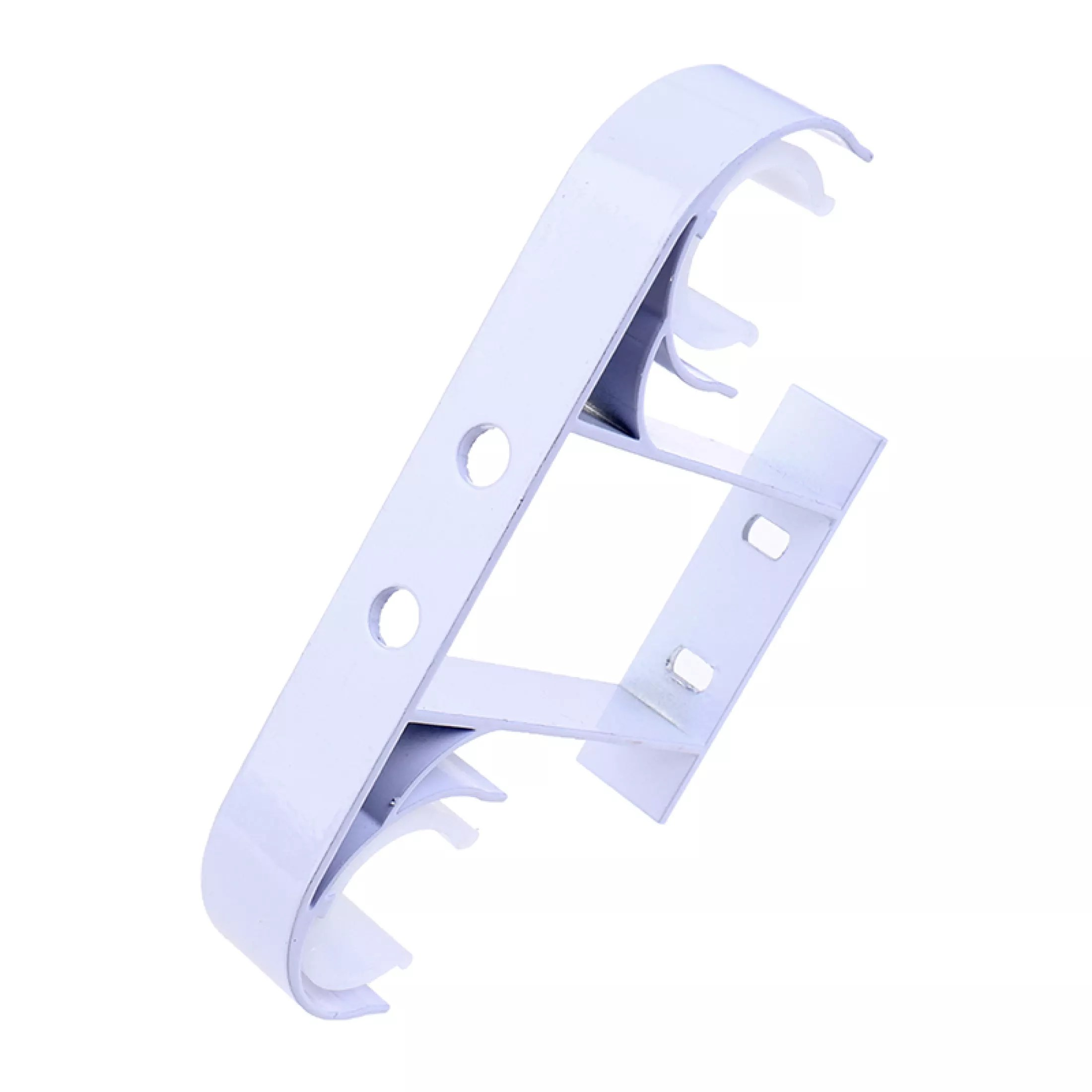 aolie aluminum alloy double curtain rod bracket holder ceiling mounted