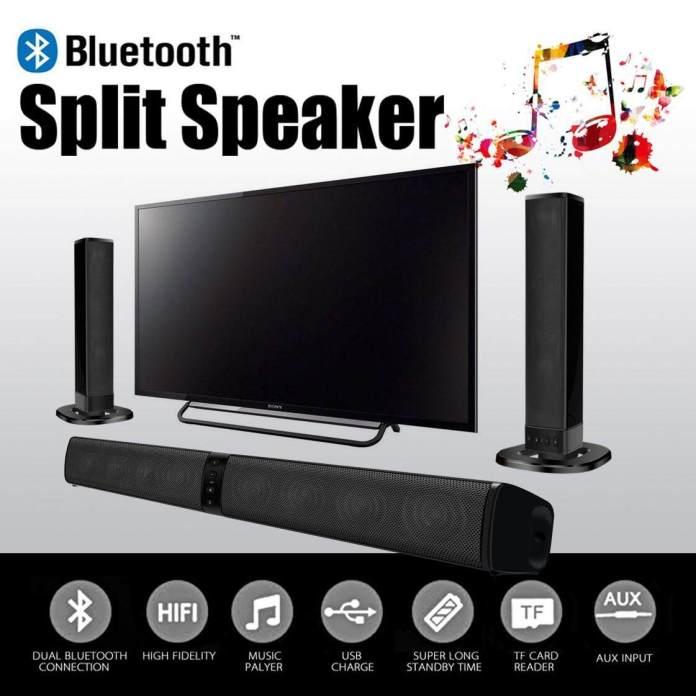Dotec BS-36 Nirkabel 2 In 1 Speaker Bar Suara Bluetooth 4.0 AUX USB Pemutar Kartu TF Suara Bar untuk Home Theater Speaker Portabel