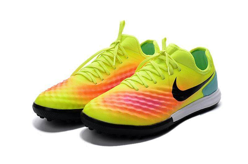 2018 Popular Indoor Lace-up Football Shoes MagistaX Finale II TF 3D ACC Waterproof Low Cut Soccer Mens Size 39-45 Football Sneakers (Yellow/Black/Orange) - intl