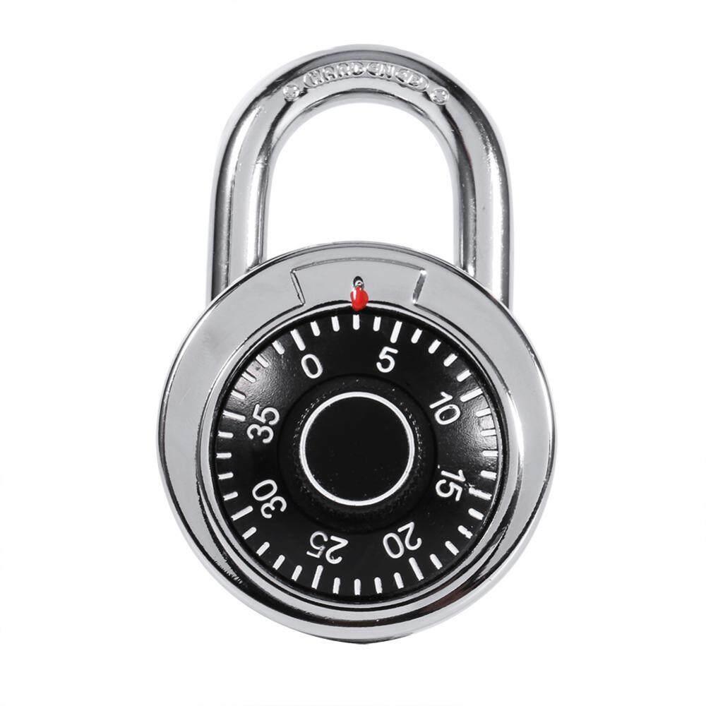Gembok Rotari Digit Kode Kombinasi Kunci Brankas Bulat Dial Nomor Bagasi Koper Keamanan-Internasional