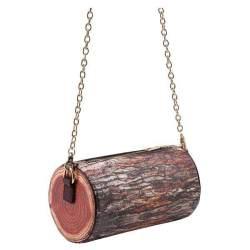 Coklat Tunggul Pohon Berbentuk Tas Rantai (Warna: Cokelat Cross Section)-Intl