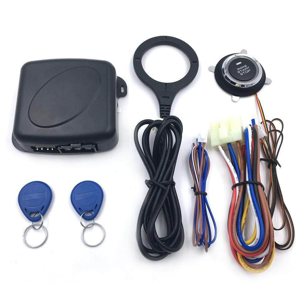 Hadiah Auto Car Alarm Engine Push Tombol Start Stop RFID Kunci Pengapian Switch Keyless Entry Sistem Starter Anti-Theft Sistem Hitam-Intl