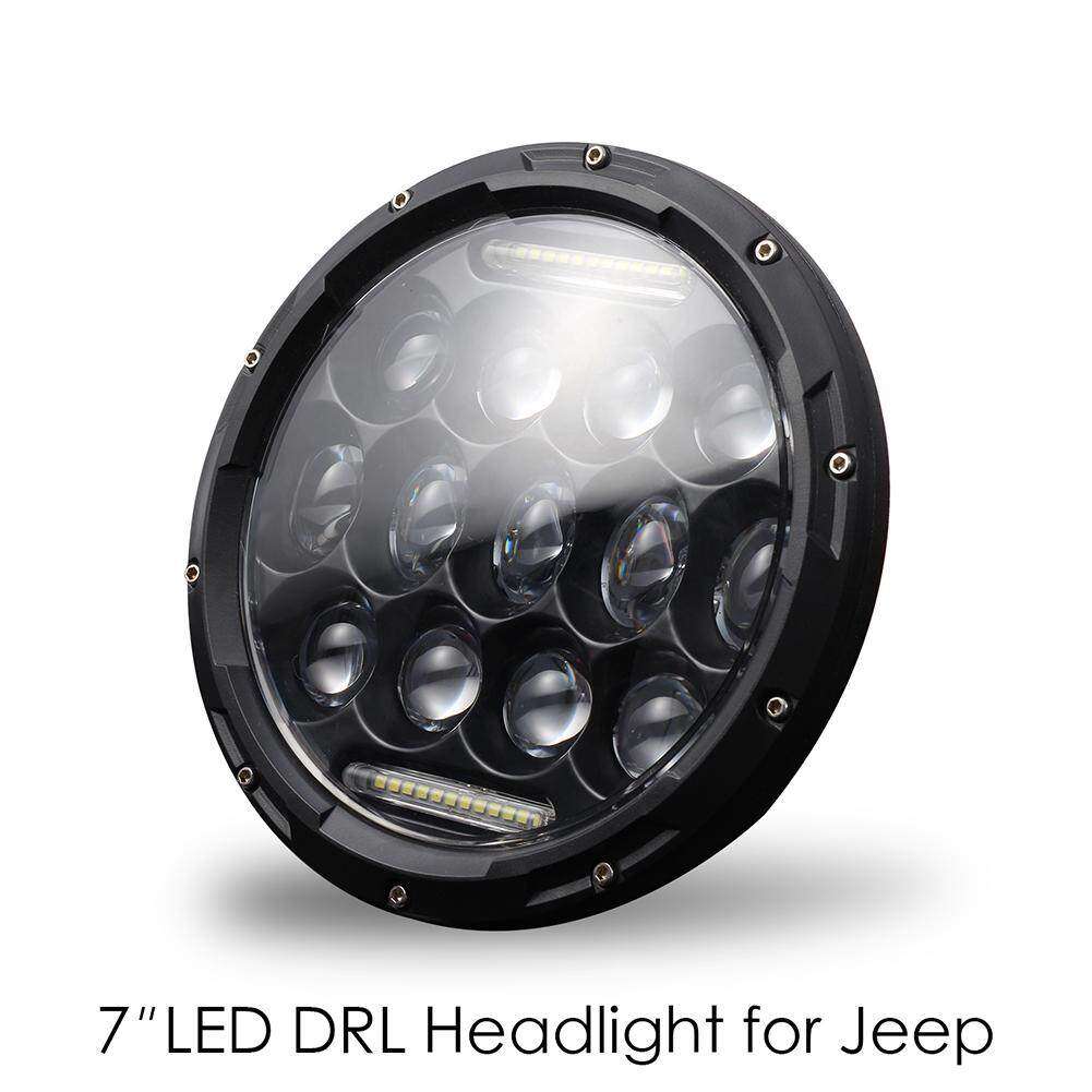 SYD # Daya Tinggi H4/H13 7 Inch 300 W Lampu Depan Bulat LED Mengubah Lampu Sinyal Putih DRL Putih 6500 K